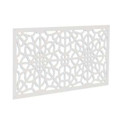 4 ft. x 2 ft. White Fretwork Polymer Decorative Screen Panel