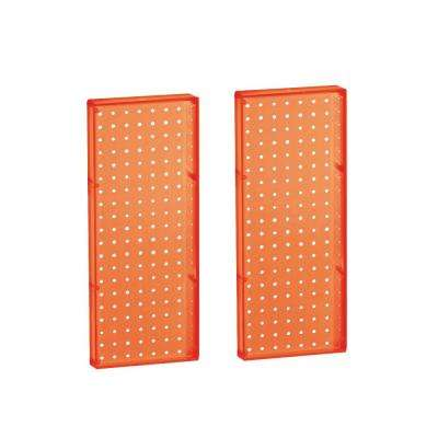 20.625 in H x 8 in W Pegboard Orange Styrene One Sided Panel (2-Pieces per Box)