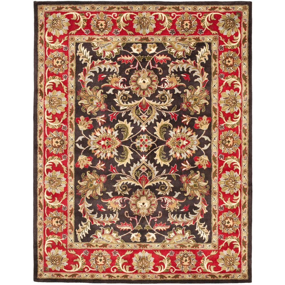 Safavieh Heritage Chocolate/Red 7 ft. 6 in. x 9 ft. 6 in. Area Rug