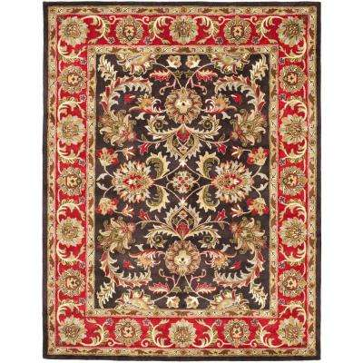 Heritage Chocolate/Red 7 ft. 6 in. x 9 ft. 6 in. Area Rug