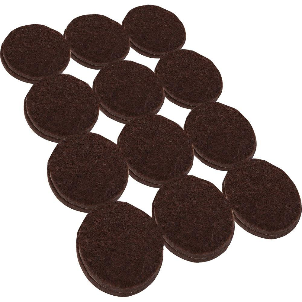 Everbilt 1-1/2 in. Heavy Duty Brown Self-Adhesive Felt Pads (24 per Pack)
