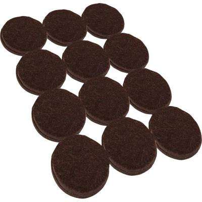 1-1/2 in. Heavy Duty Brown Self-Adhesive Felt Pads (24 per Pack)