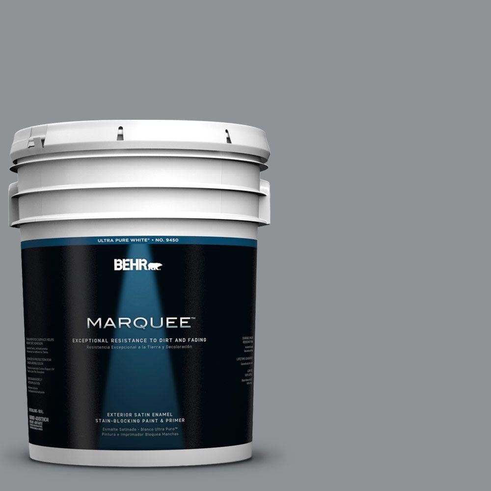 BEHR MARQUEE 5-gal. #770F-4 Gray Area Satin Enamel Exterior Paint
