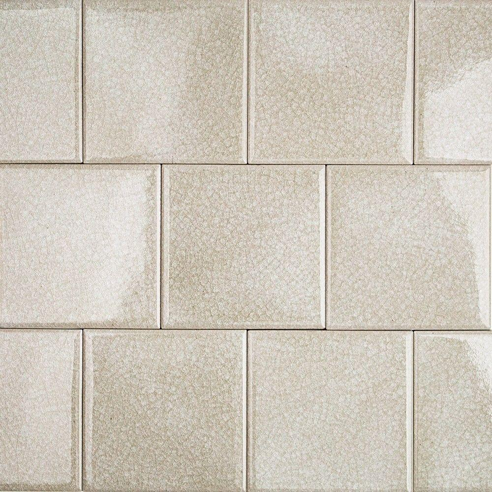 Splashback Tile Roman Selection Iced Light Cream 4 In X 8