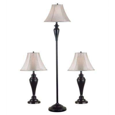 Kylie 27 in. Bronze Lamp 2 Table and 1 Floor Set