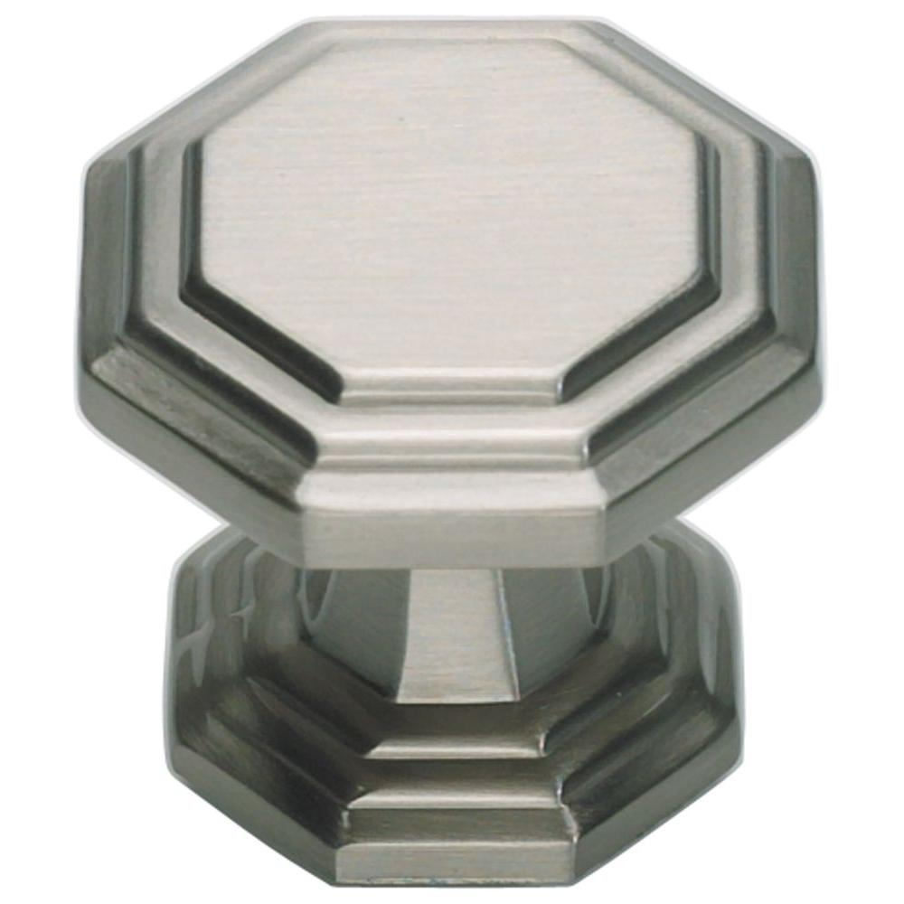 Atlas Homewares Dickinson Collection 1-1/4 in. Brushed Nickel Octagon Cabinet Knob