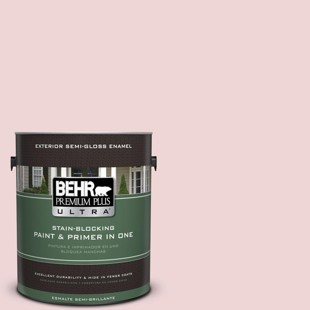 BEHR Premium Plus Ultra 1-gal. #S140-1 Radiant Rose Semi-Gloss Enamel Exterior Paint