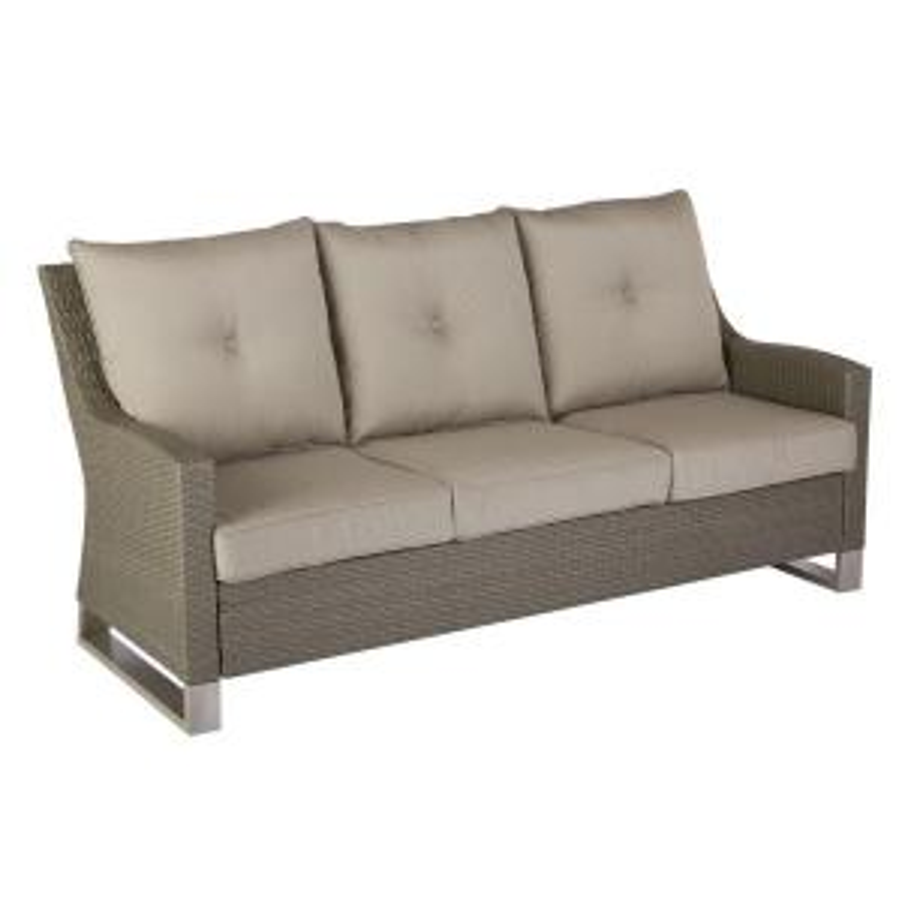 Broadview Patio Sofa with Sunbrella Spectrum Dove Cushions