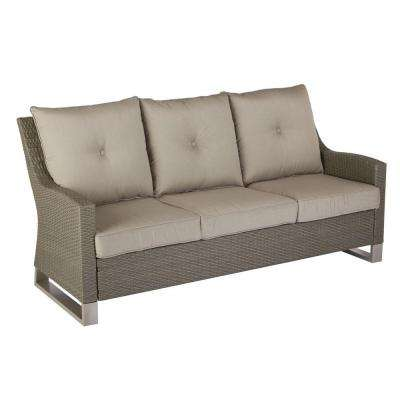 Broadview Patio Sofa With Sunbrella Spectrum Dove Cushions