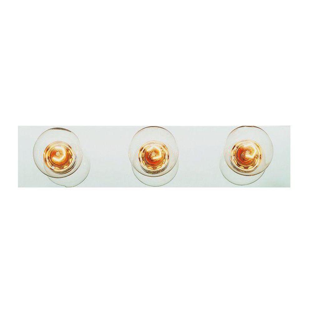 Cabernet Collection 3-Light Brushed Nickel Bath Bar Light