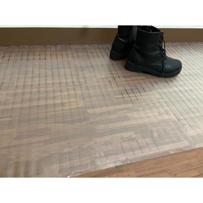 Clear 2 ft. 2 in. x 10 ft. Vinyl Hardwood Protector Runner Mat