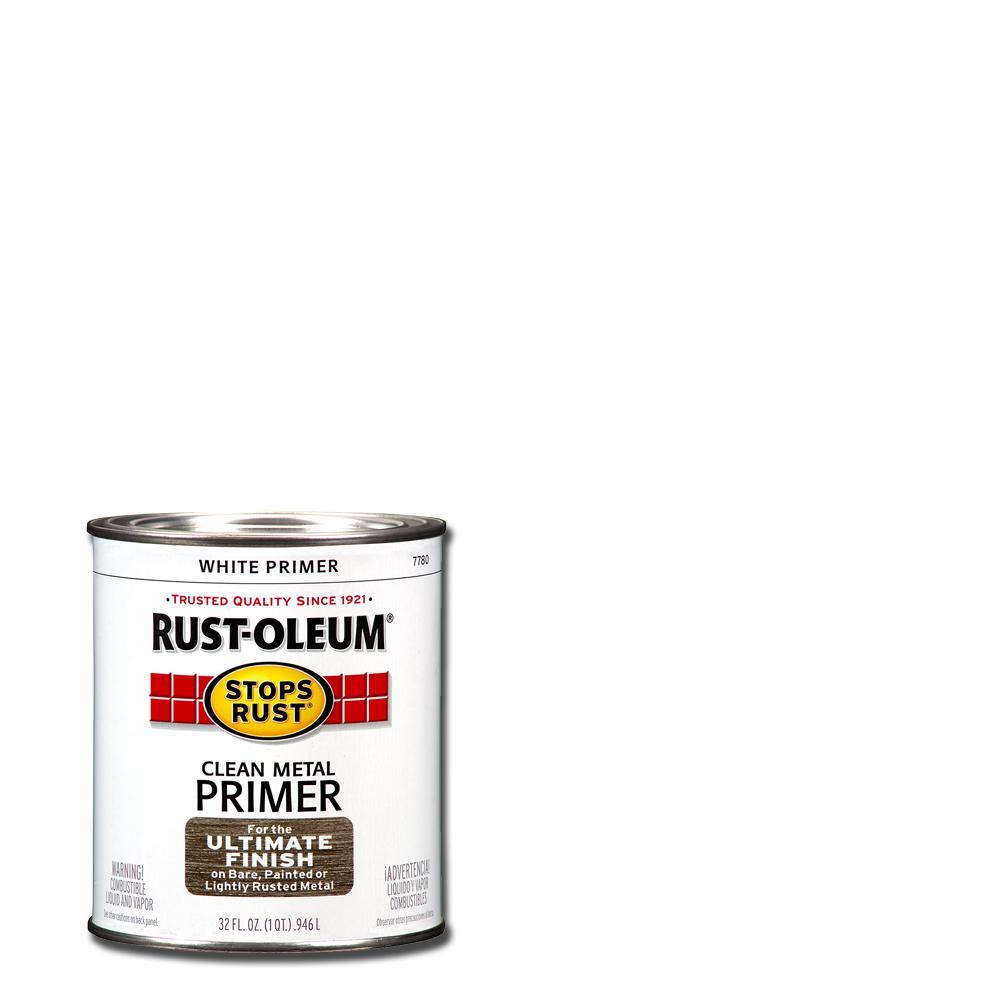 Rust-Oleum Stops Rust 1 qt. Flat White Clean Metal Primer