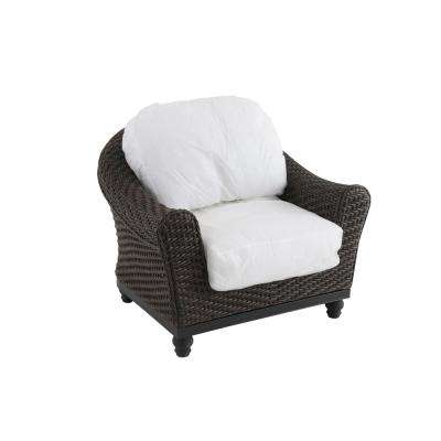 Camden Dark Brown Wicker Outdoor Lounge Chair with Cushions Included, Choose Your Own Color (2-Pack)