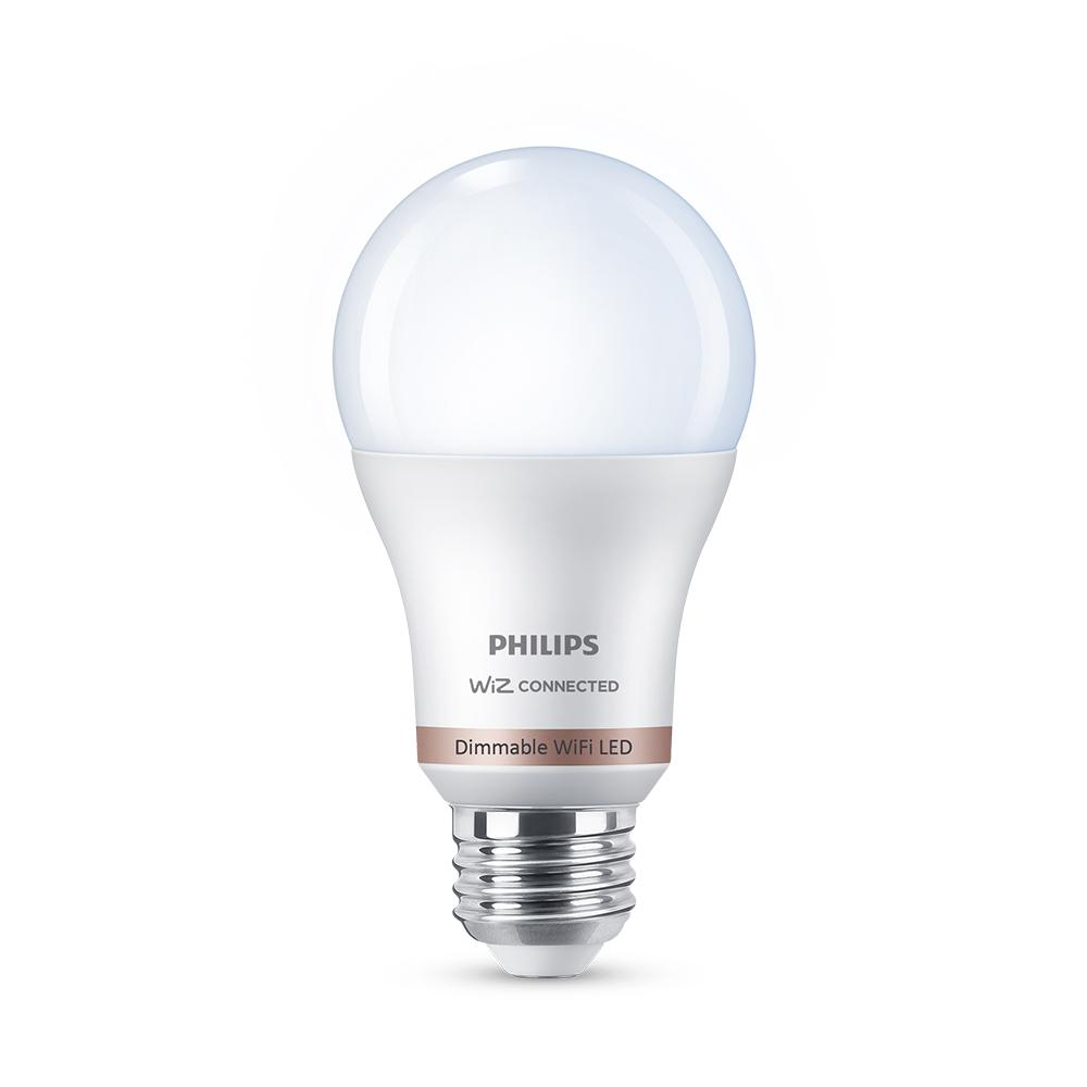 Philips Daylight A19 LED 60W Equivalent Dimmable Smart Wi-Fi Wiz Connected Wireless Light Bulb