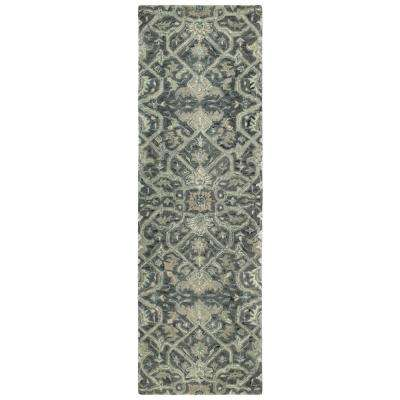 Chancellor Graphite 3 ft. x 8 ft. Runner Rug