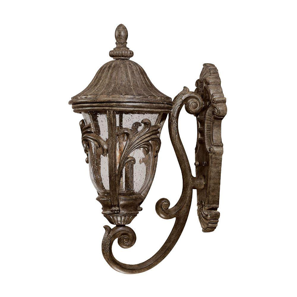 Acclaim Lighting Boca Raton Collection Wall-Mount 3-Light Outdoor Black Coral Light Fixture