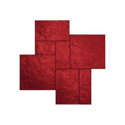48 in. X 48 in. Colorado Sandstone Red Texture Stamp