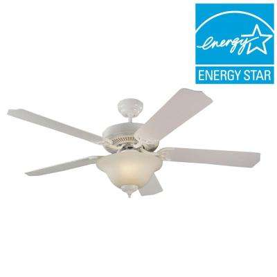 Quality Max Plus 52 in. LED Indoor White Ceiling Fan