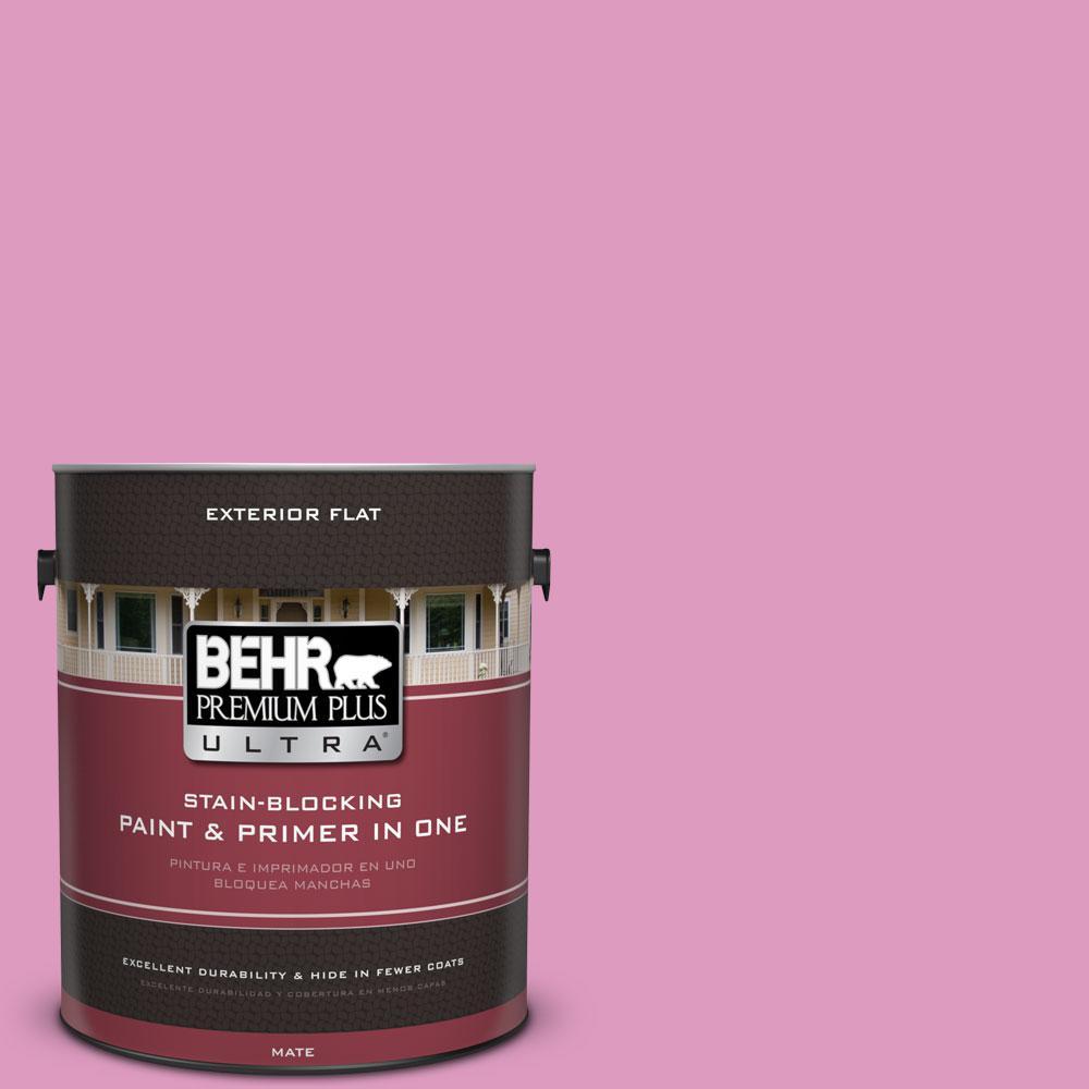 BEHR Premium Plus Ultra 1-gal. #690B-4 Pink Begonia Flat Exterior ...