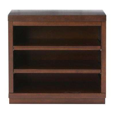 Mudroom 2-Shelf Wood Base Shelving Unit in Sequoia