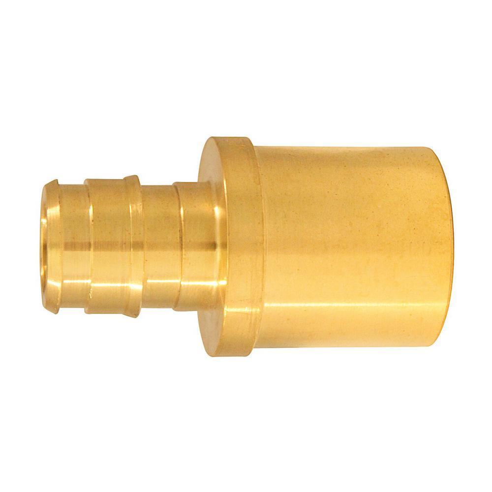 1/2 in. Brass PEX-A Barb x 3/4 in. Reducing Male Sweat