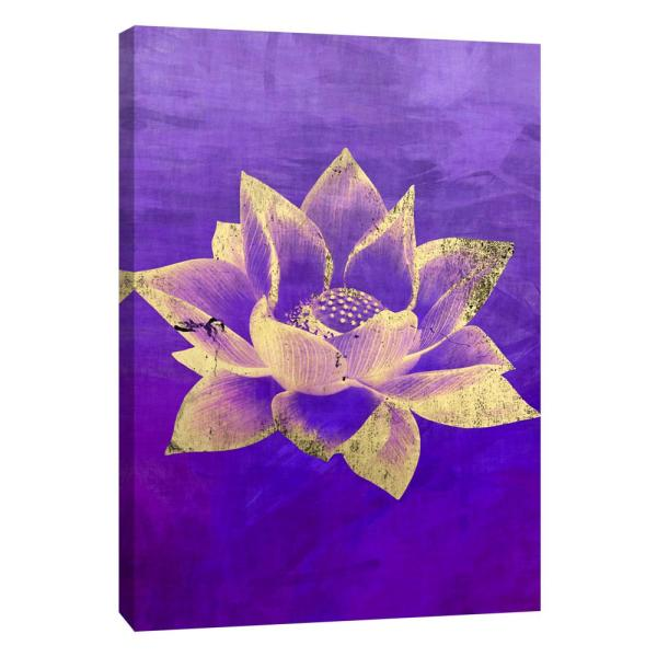 12 In X 10 In Lotus Printed Canvas Wall Art