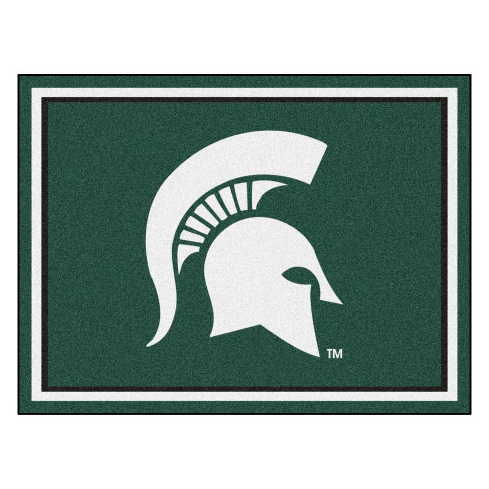 NCAA - Michigan State University Green 10 ft. x 8 ft. Indoor Rectangle Area Rug