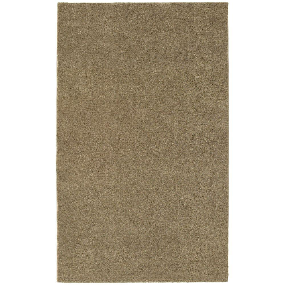 Garland Rug Washable Room Size Bathroom Carpet Taupe 5 Ft. X 6 Ft. Area