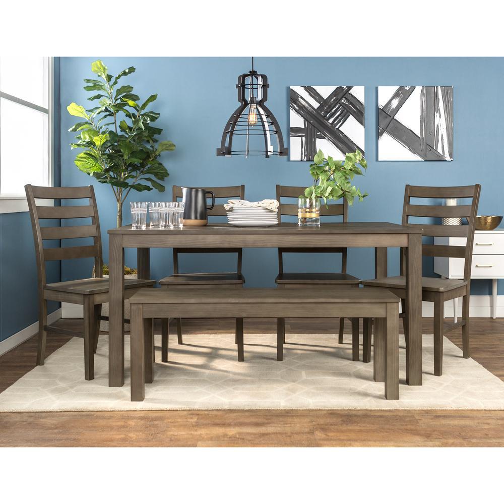 Walker Edison Furniture Company 6-Piece Modern Dining Set ...