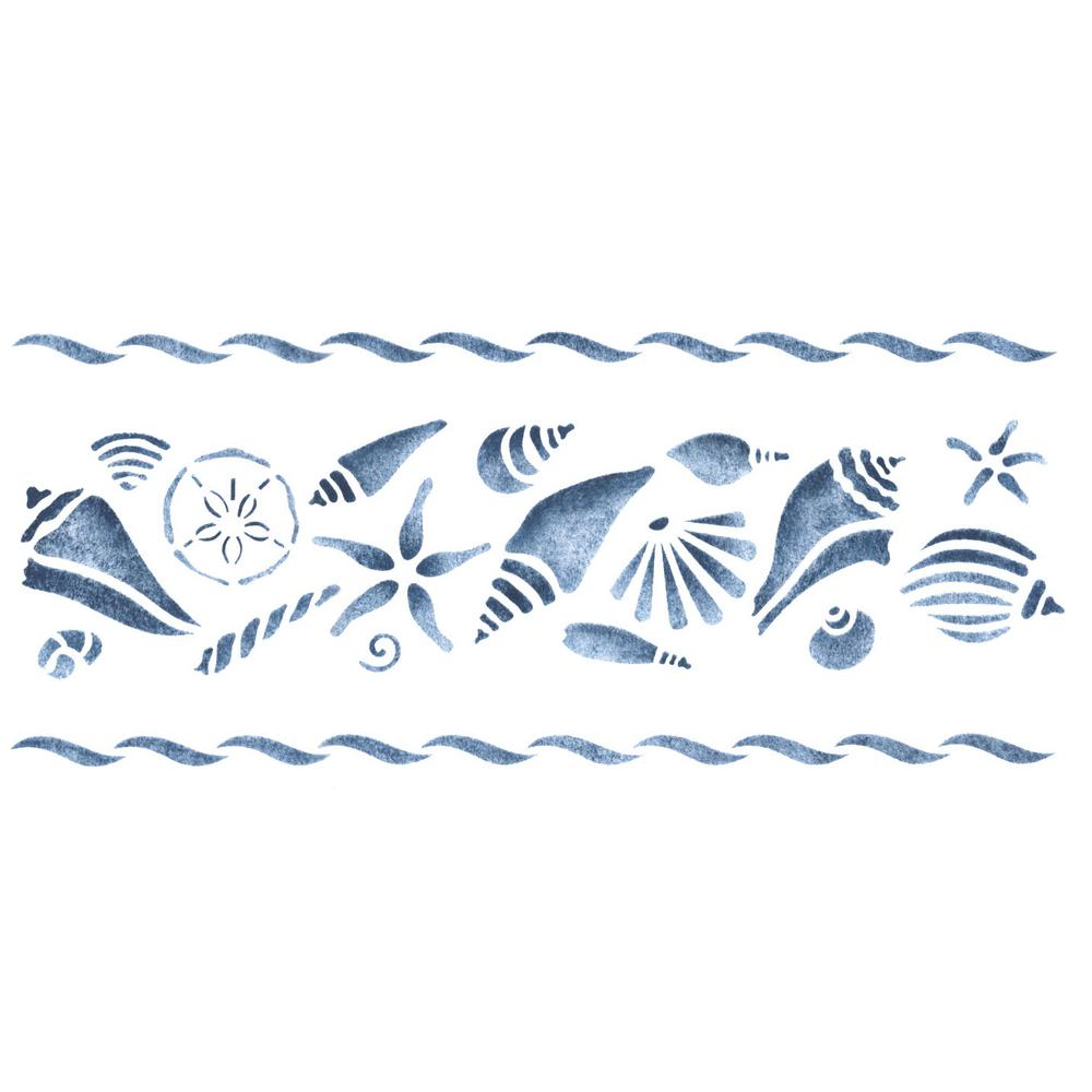 Orted Shell Wall Stencil Border