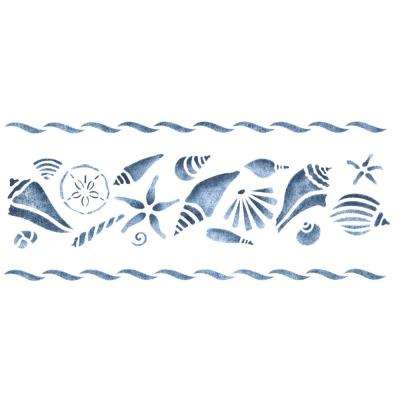 Assorted Shell Wall Stencil Border