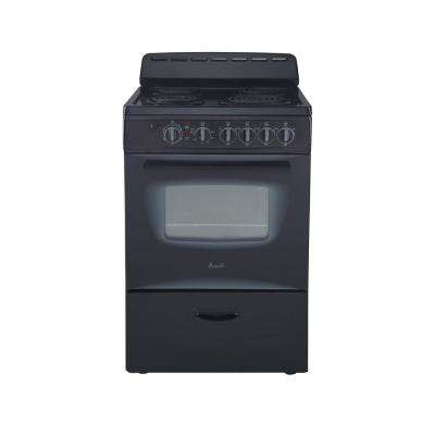 24 in. 2.6 cu. ft. Single Oven Electric Range in Black