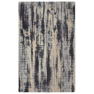 Oak Contemporary Modern Grey 3 ft. x 5 ft.  Area Rug