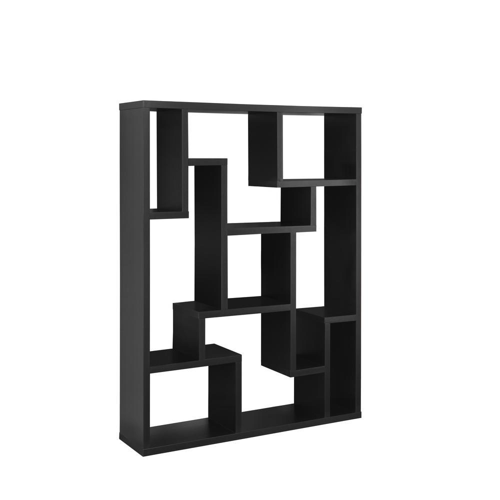 Ignis Black Bookcase