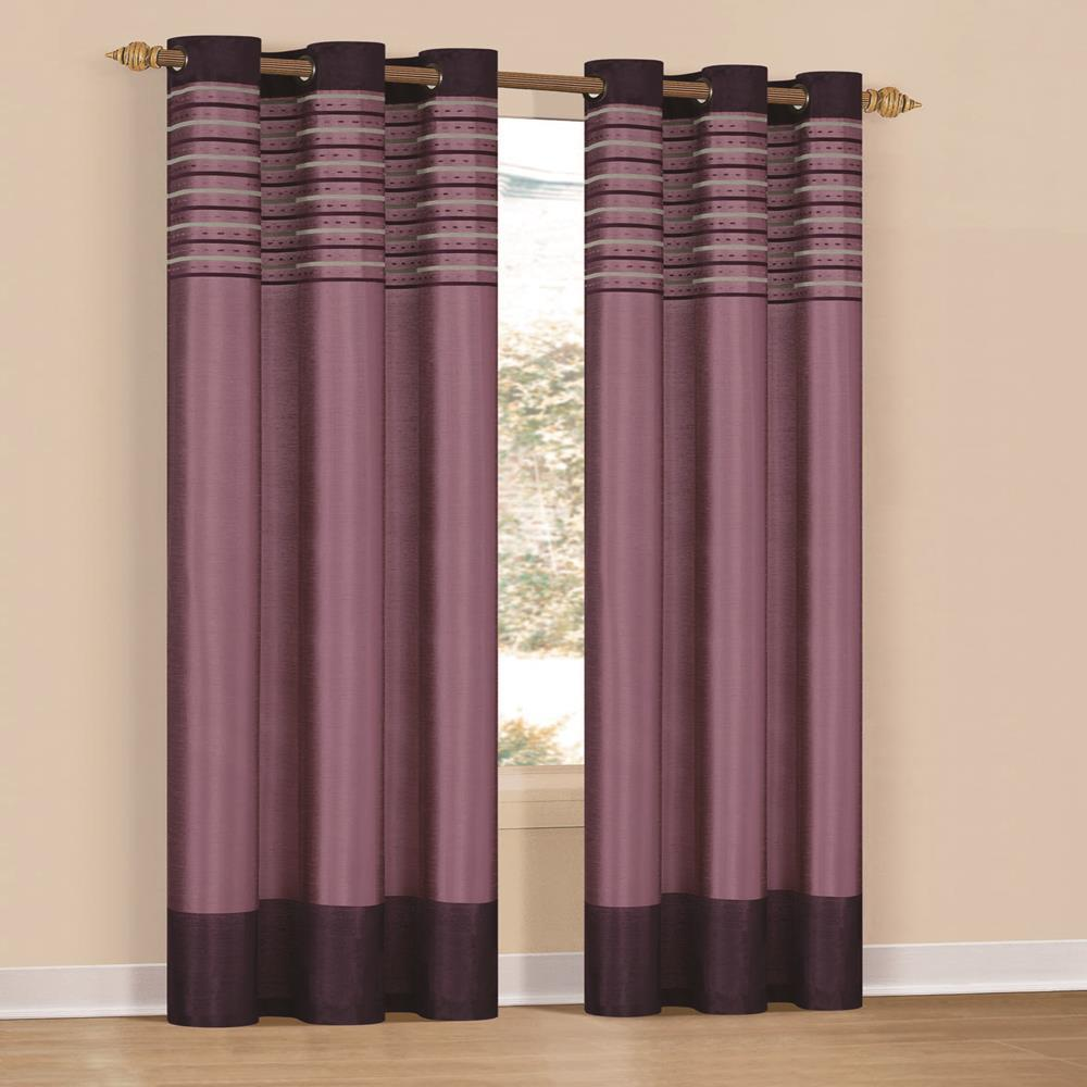 Duck River Cityscape 38 in. x 84 in. L Polyester Curtain Panel in Purple Dehlia (2-Pack)