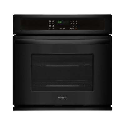 27 in. Single Electric Wall Oven Self-Cleaning in Black