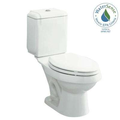 Rockton 2-piece 0.8 or 1.6 GPF Dual Flush Elongated Front Toilet in White