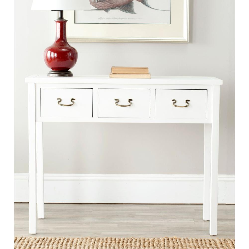 Safavieh Cindy White Storage Console Table