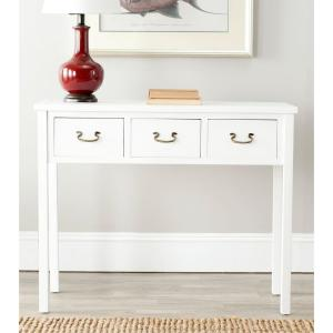 Cindy White Storage Console Table
