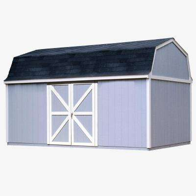 Berkley 10 ft. x 16 ft. Wood Storage Building Kit with Floor