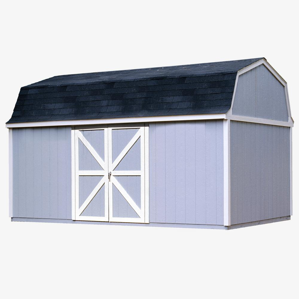 Handy Home Products Berkley 10 ft. x 16 ft. Wood Storage Building Kit with Floor