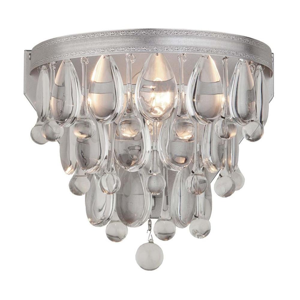 Liroma 2 Light Satin Nickel Sconce Filament Design