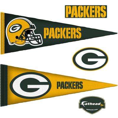 14 in. H x 38 in. W Green Bay Packers Pennants JUNIOR Wall Mural