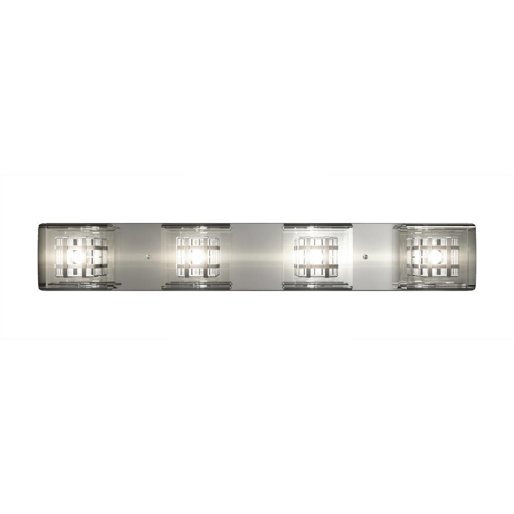 Metropolitan 4-Light Chrome Vanity Light