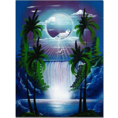 18 in. x 24 in. Moon Over the Waterfall II 4 Canvas Art