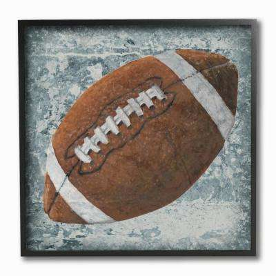 "12 in. x 12 in. ""Grunge Sports Equipment Football by Studio W Printed Framed Wall Art"