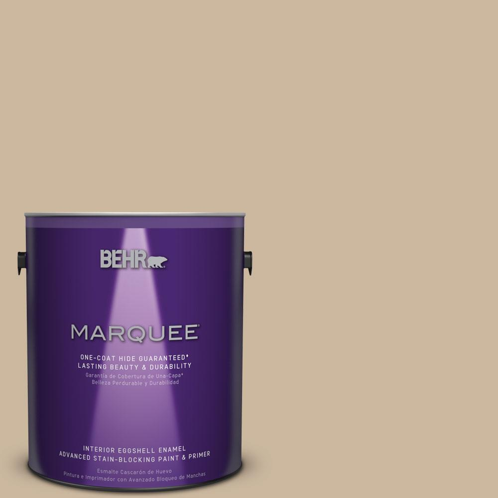 1 gal. #MQ2-21 Elemental Tan One-Coat Hide Eggshell Enamel Interior Paint