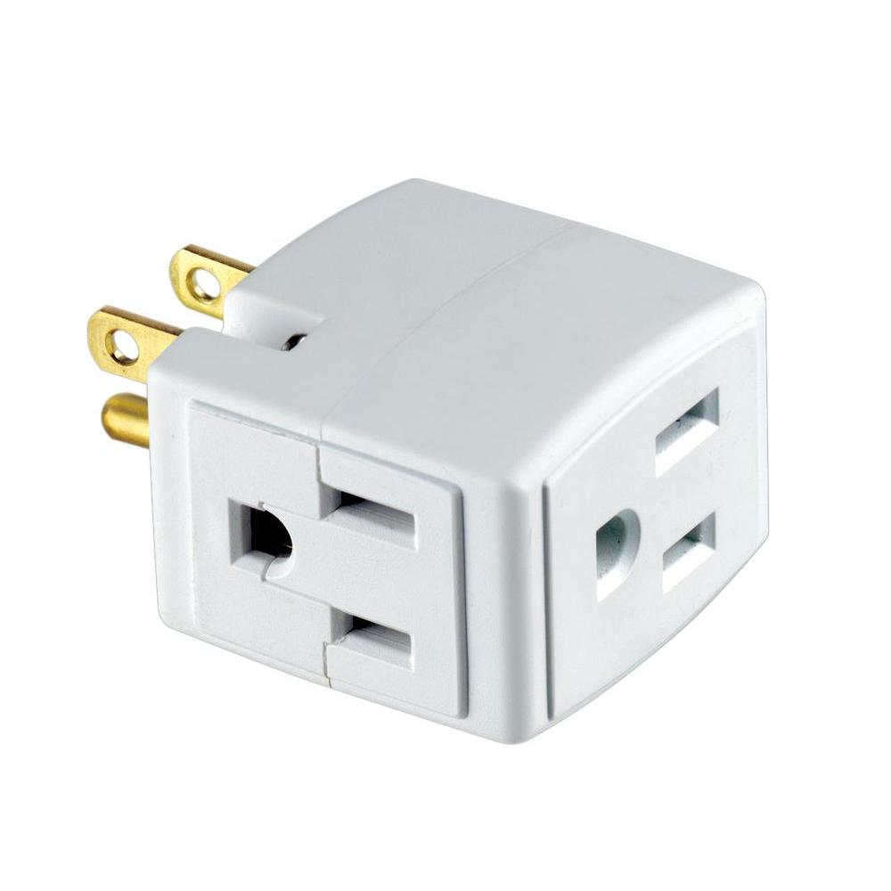 Leviton 3-Outlet Cube Converter-R54-00692-00W - The Home Depot