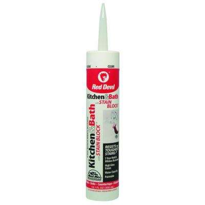 Premium Kitchen and Bath with Stain Block 10.1 oz. Clear Caulk