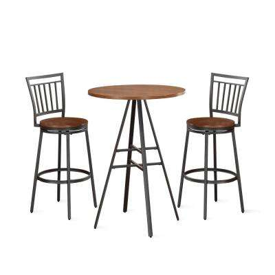 Filmore 3-Piece Golden Oak 42 in. H Pub Set
